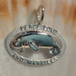 Peace Love And Manatees Pendant