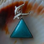 Larimar & Dolphin Duo-Sterling Silver