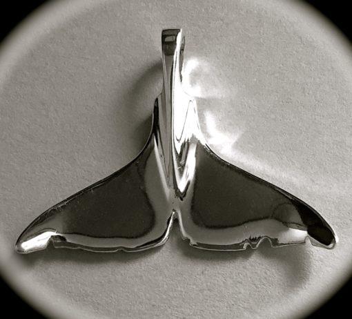 Keiko's fluke pendant-front side